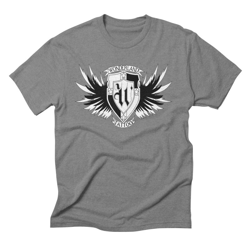 Winged Shield Men's Triblend T-Shirt by Wonderland Tattoo Studio's Artist Shop