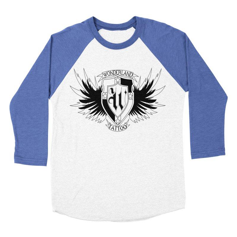 Winged Shield Women's Baseball Triblend Longsleeve T-Shirt by Wonderland Tattoo Studio's Artist Shop