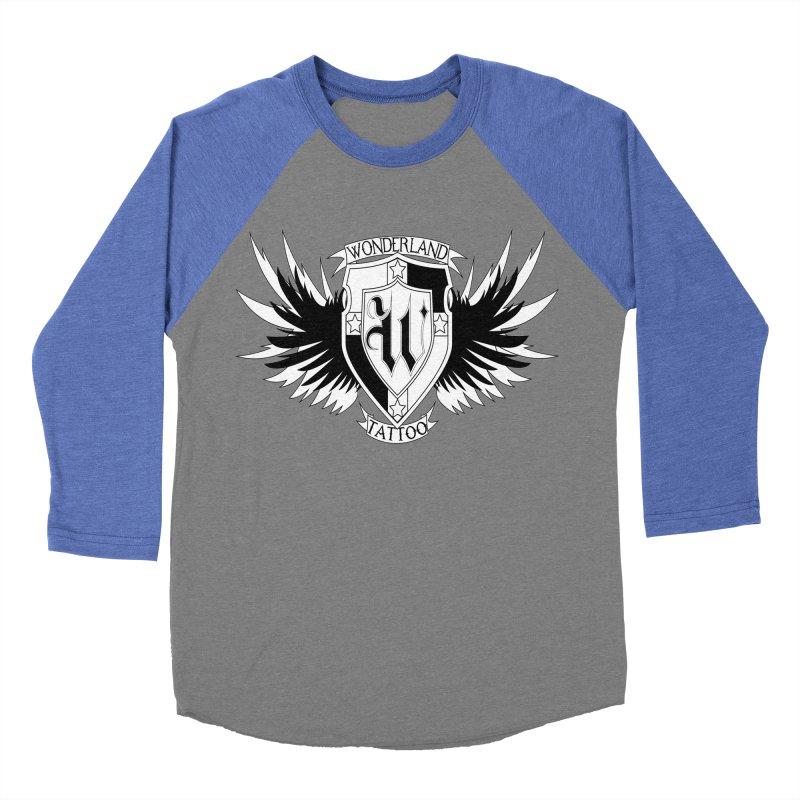 Winged Shield Women's Baseball Triblend T-Shirt by Wonderland Tattoo Studio's Artist Shop