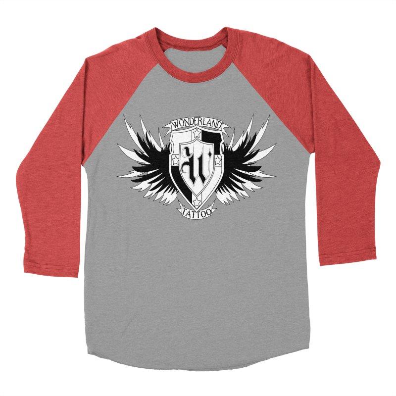 Winged Shield Men's Baseball Triblend Longsleeve T-Shirt by Wonderland Tattoo Studio's Artist Shop