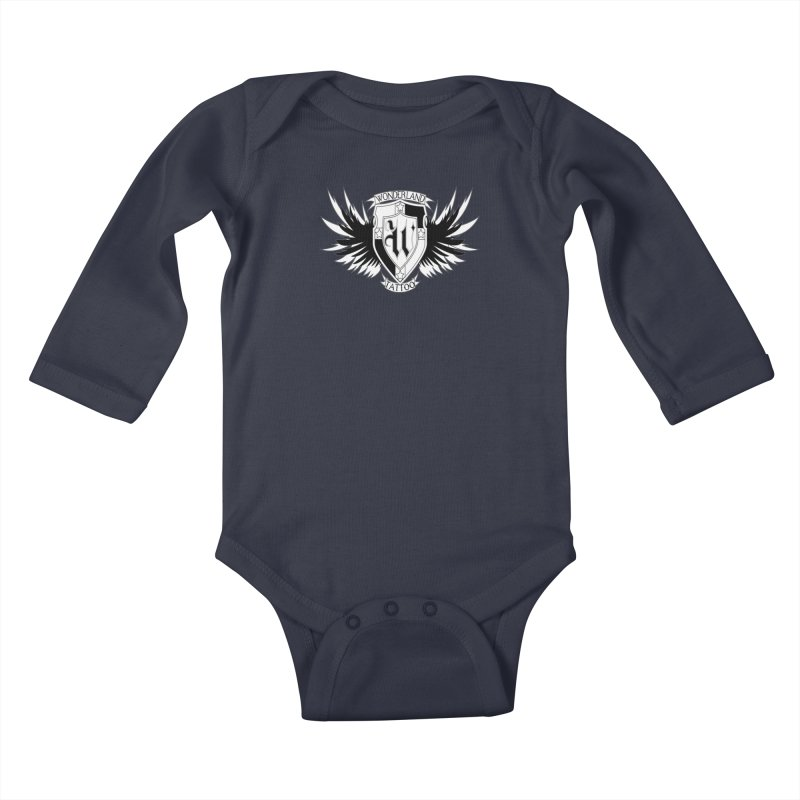 Winged Shield Kids Baby Longsleeve Bodysuit by Wonderland Tattoo Studio's Artist Shop