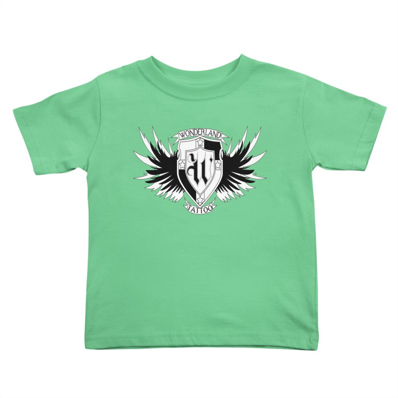 Winged Shield Kids Toddler T-Shirt by Wonderland Tattoo Studio's Artist Shop