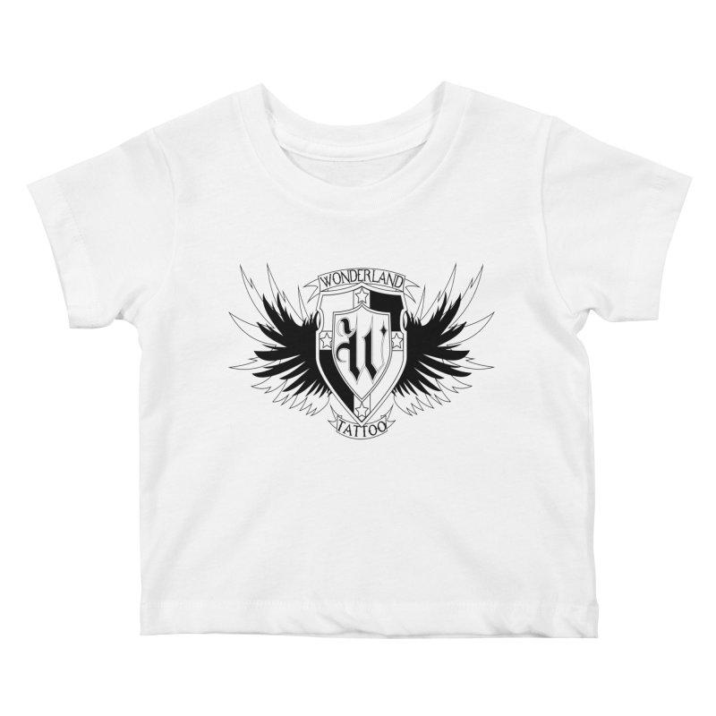 Winged Shield Kids Baby T-Shirt by Wonderland Tattoo Studio's Artist Shop