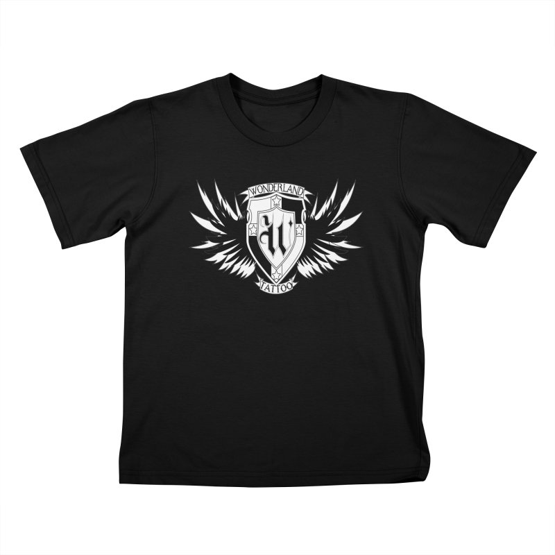 Winged Shield Kids T-Shirt by Wonderland Tattoo Studio's Artist Shop
