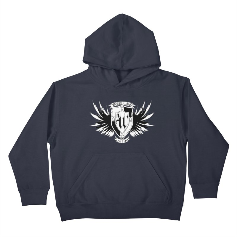 Winged Shield Kids Pullover Hoody by Wonderland Tattoo Studio's Artist Shop