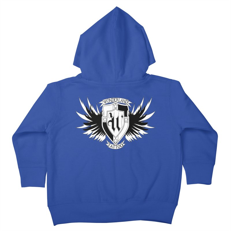 Winged Shield Kids Toddler Zip-Up Hoody by Wonderland Tattoo Studio's Artist Shop