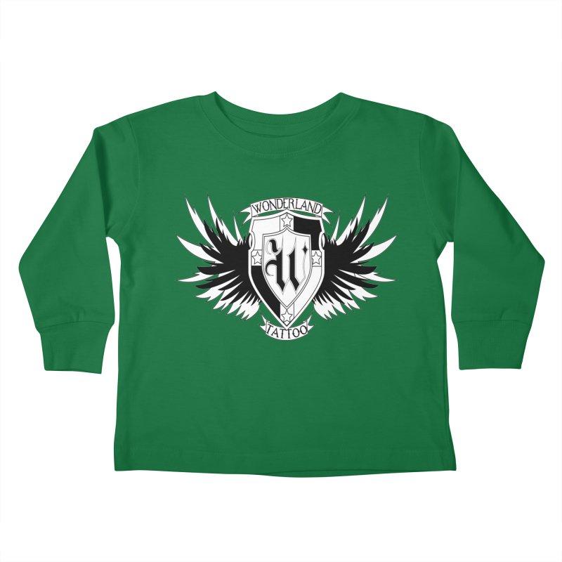 Winged Shield Kids Toddler Longsleeve T-Shirt by Wonderland Tattoo Studio's Artist Shop