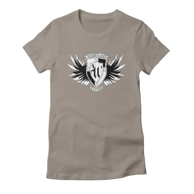 Winged Shield Women's Fitted T-Shirt by Wonderland Tattoo Studio's Artist Shop