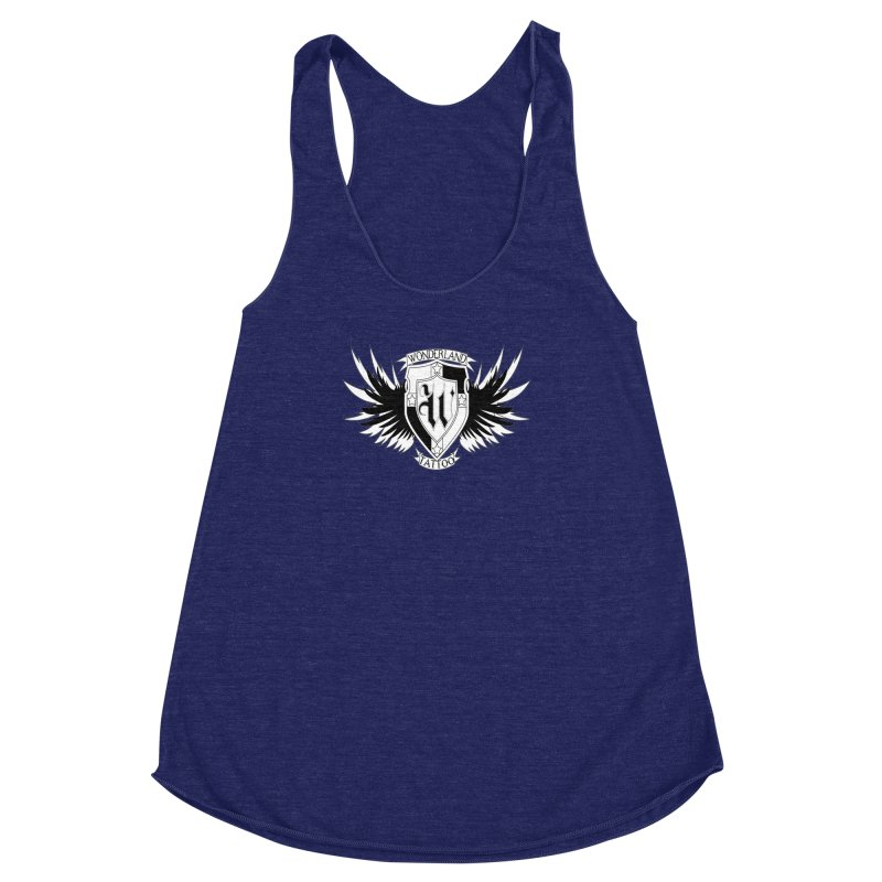 Winged Shield Women's Racerback Triblend Tank by Wonderland Tattoo Studio's Artist Shop