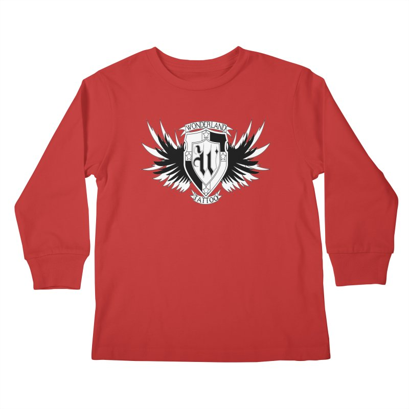 Winged Shield Kids Longsleeve T-Shirt by Wonderland Tattoo Studio's Artist Shop