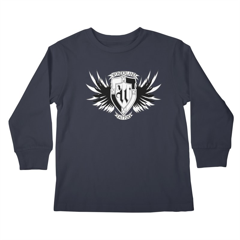 Winged Shield Kids Longsleeve T-Shirt by Wonderland Tattoo Studio's Artist Shop