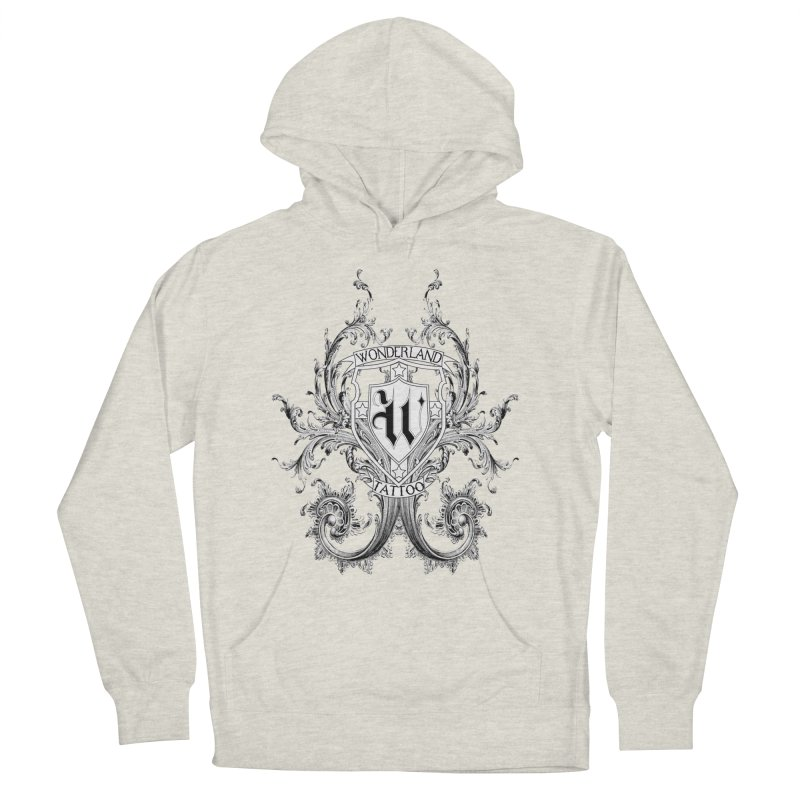 filigree shirt Women's Pullover Hoody by Wonderland Tattoo Studio's Artist Shop