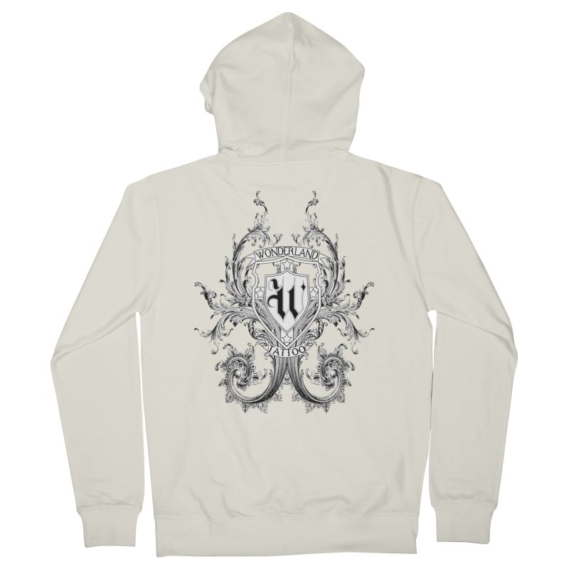filigree shirt Women's Zip-Up Hoody by Wonderland Tattoo Studio's Artist Shop