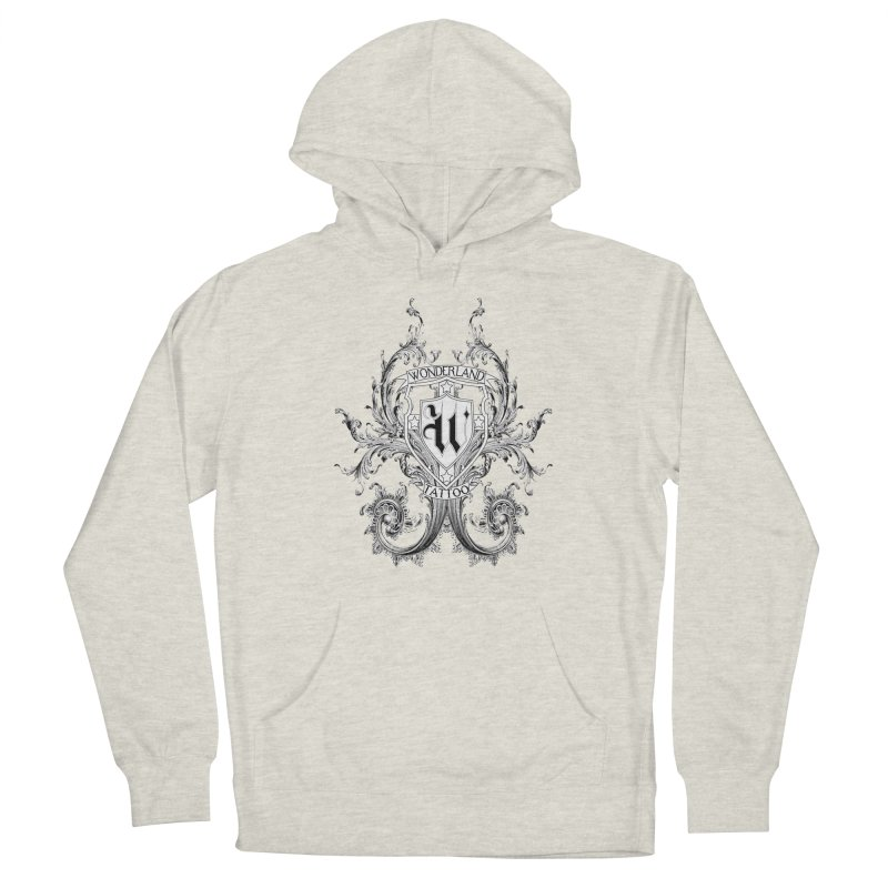 filigree shirt Women's French Terry Pullover Hoody by Wonderland Tattoo Studio's Artist Shop