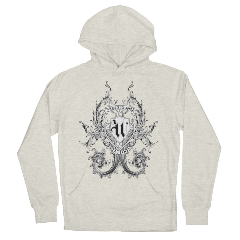filigree shirt Women's Pullover Hoody by Wonderland Tattoo Studio's Artist Shop