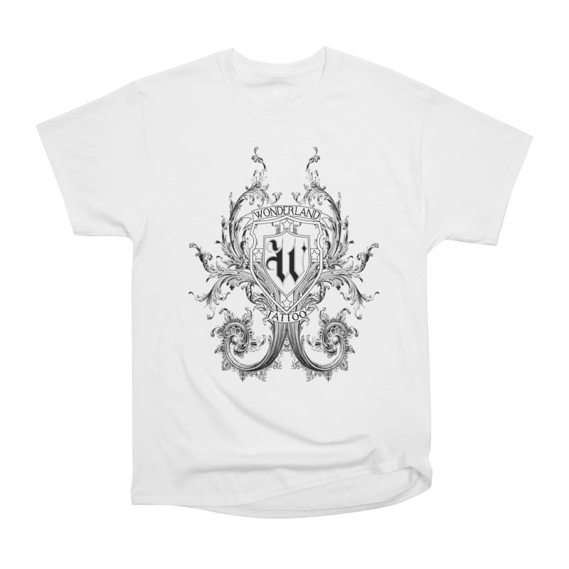 filigree shirt Men's Heavyweight T-Shirt by Wonderland Tattoo Studio's Artist Shop
