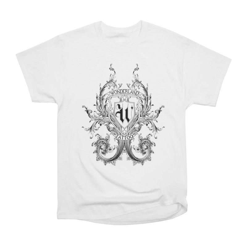 filigree shirt Men's Heavyweight T-Shirt by Wonderland Tattoo Studio's Artist Shop