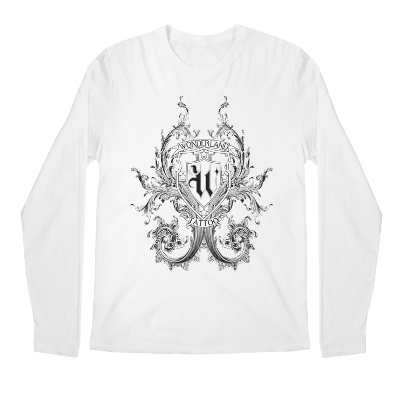 filigree shirt Men's Regular Longsleeve T-Shirt by Wonderland Tattoo Studio's Artist Shop