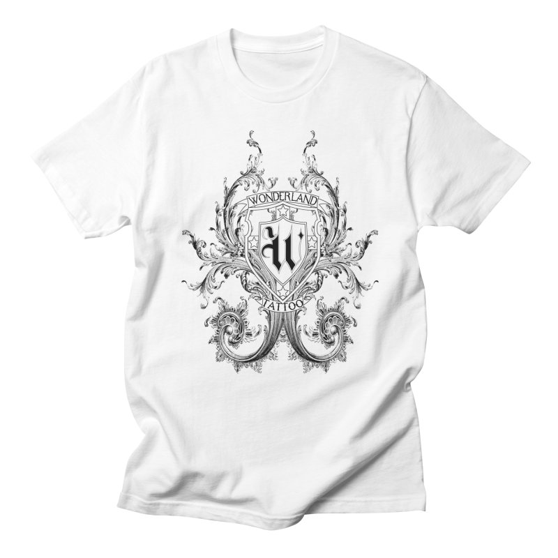 filigree shirt Men's Regular T-Shirt by Wonderland Tattoo Studio's Artist Shop