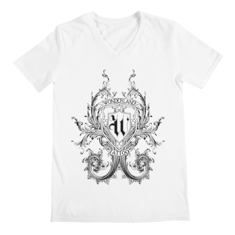 filigree shirt Men's Regular V-Neck by Wonderland Tattoo Studio's Artist Shop