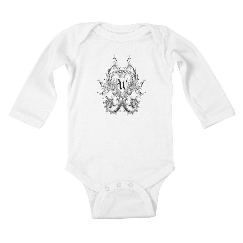 filigree shirt Kids Baby Longsleeve Bodysuit by Wonderland Tattoo Studio's Artist Shop