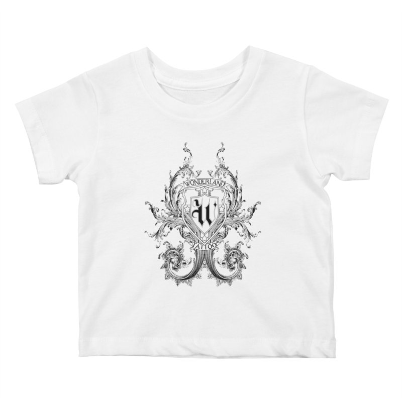 filigree shirt Kids Baby T-Shirt by Wonderland Tattoo Studio's Artist Shop