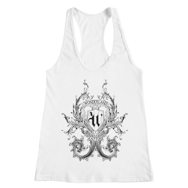 filigree shirt Women's Racerback Tank by Wonderland Tattoo Studio's Artist Shop