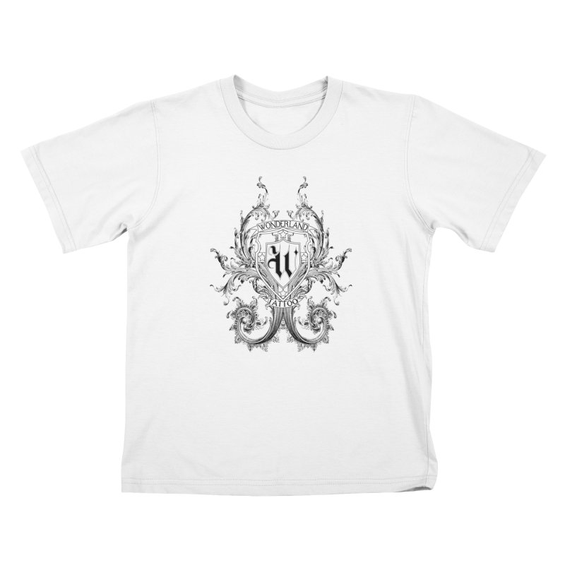 filigree shirt Kids T-Shirt by Wonderland Tattoo Studio's Artist Shop