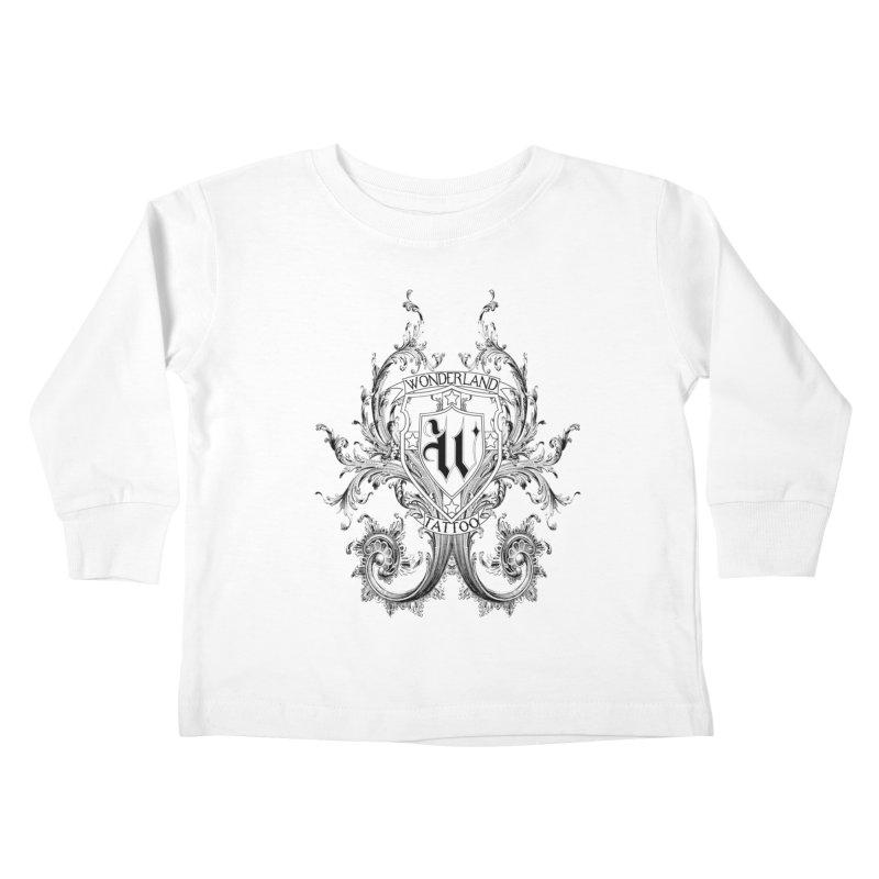 filigree shirt Kids Toddler Longsleeve T-Shirt by Wonderland Tattoo Studio's Artist Shop