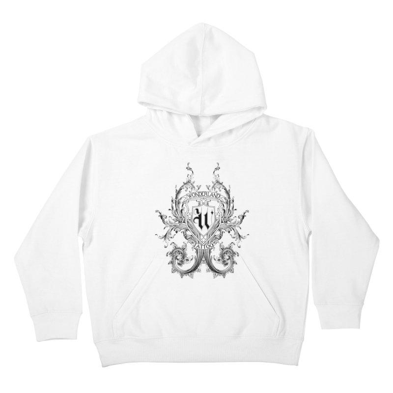 filigree shirt Kids Pullover Hoody by Wonderland Tattoo Studio's Artist Shop