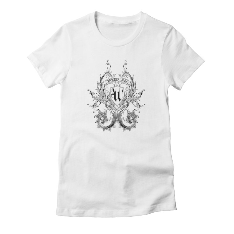 filigree shirt Women's T-Shirt by Wonderland Tattoo Studio's Artist Shop