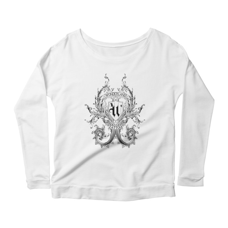 filigree shirt Women's Longsleeve Scoopneck  by Wonderland Tattoo Studio's Artist Shop