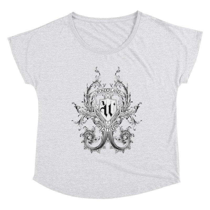 filigree shirt Women's Dolman Scoop Neck by Wonderland Tattoo Studio's Artist Shop
