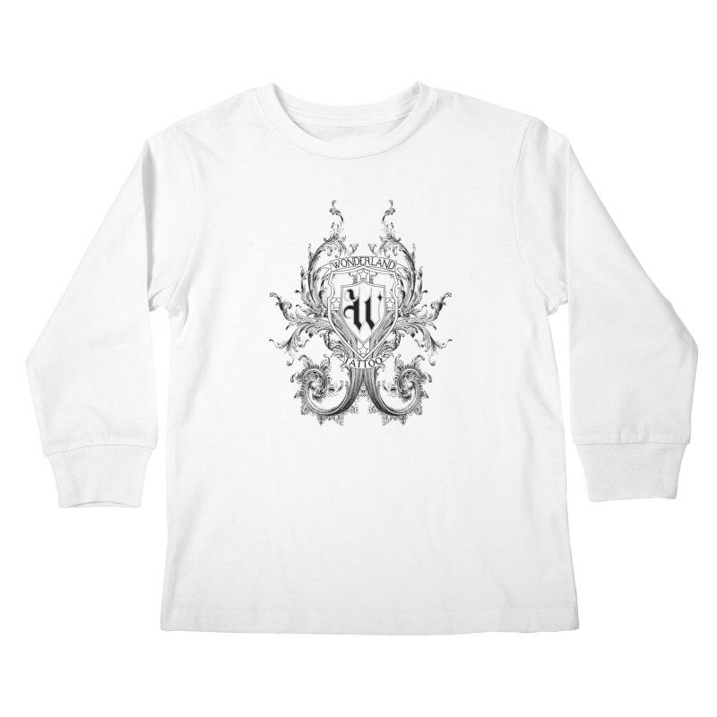 filigree shirt Kids Longsleeve T-Shirt by Wonderland Tattoo Studio's Artist Shop