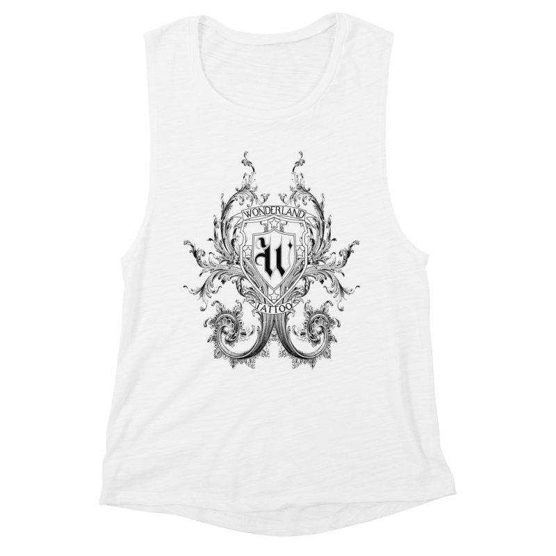 filigree shirt Women's Muscle Tank by Wonderland Tattoo Studio's Artist Shop