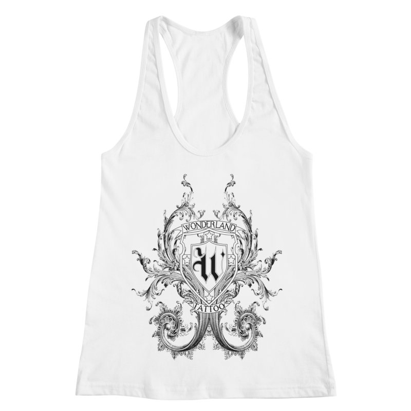 filigree shirt Women's Racerback Tank by Wonderland Tattoo Studio's Artist Shop