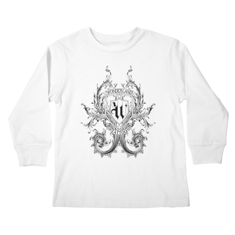 filigree shirt Kids Longsleeve T-Shirt by Wonderland Tattoo Studio's Artist Shop
