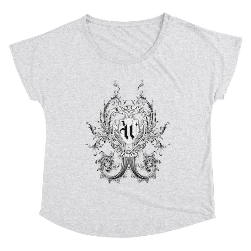 filigree shirt Women's Scoop Neck by Wonderland Tattoo Studio's Artist Shop