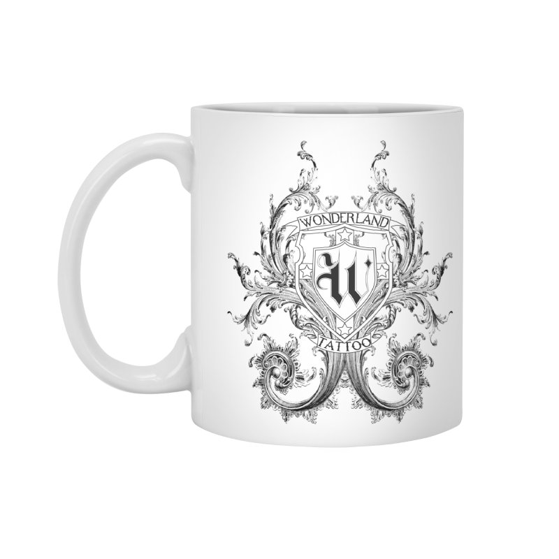 filigree shirt Accessories Standard Mug by Wonderland Tattoo Studio's Artist Shop