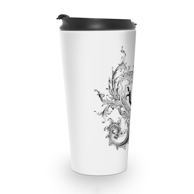 filigree shirt Accessories Travel Mug by Wonderland Tattoo Studio's Artist Shop