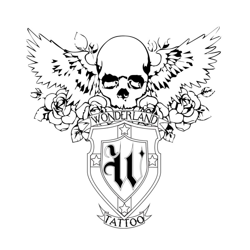 Skull and Wings Logo by Wonderland Tattoo Studio's Artist Shop