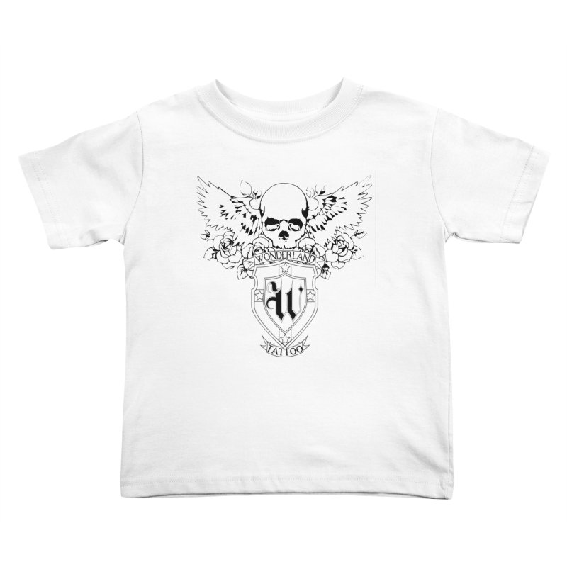 Skull and Wings Logo Kids Toddler T-Shirt by Wonderland Tattoo Studio's Artist Shop