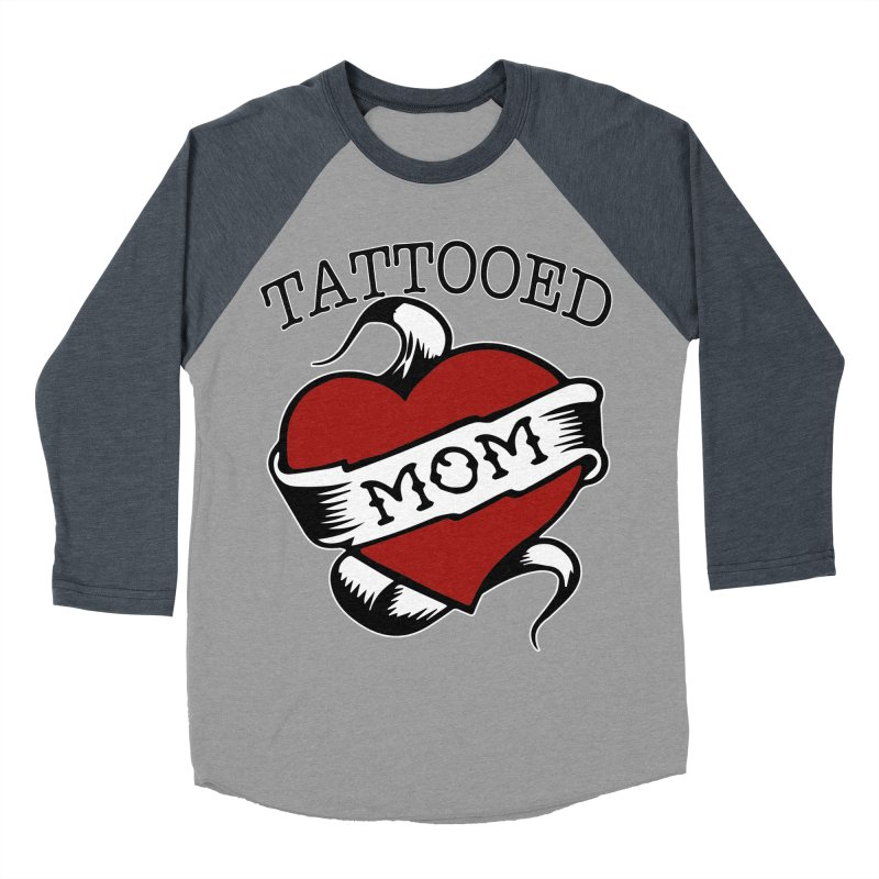 Tattooed Mom Women's Baseball Triblend Longsleeve T-Shirt by Wonderland Tattoo Studio's Artist Shop