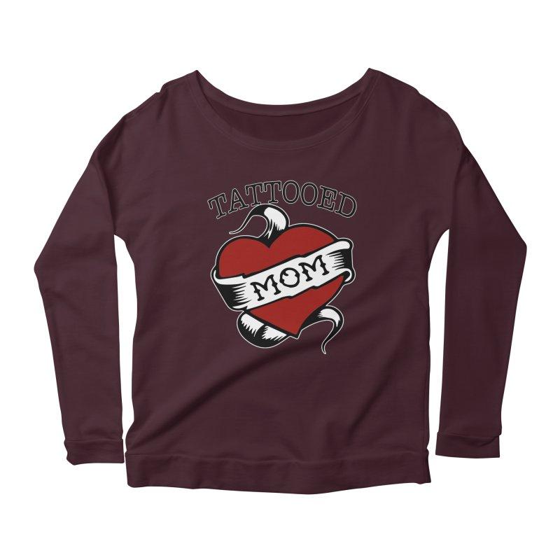 Tattooed Mom Women's Scoop Neck Longsleeve T-Shirt by Wonderland Tattoo Studio's Artist Shop