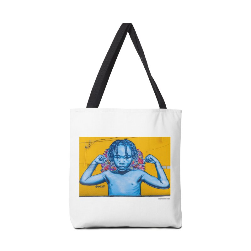 "Brandan ""Bmike"" Odums ""Survival Against All Odds"" for WonderRoot's Off The Wall Accessories Tote Bag Bag by WonderRoot's Artist Shop"