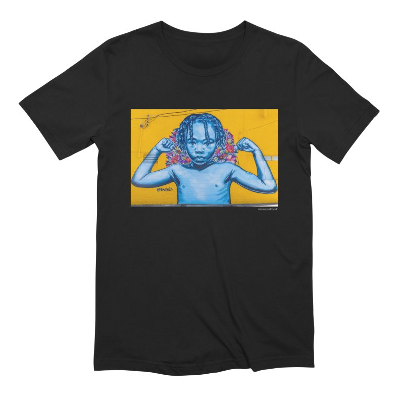 """Brandan """"Bmike"""" Odums """"Survival Against All Odds"""" for WonderRoot's Off The Wall Men's Extra Soft T-Shirt by WonderRoot's Artist Shop"""