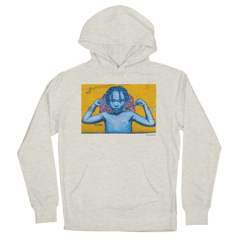 """Brandan """"Bmike"""" Odums """"Survival Against All Odds"""" for WonderRoot's Off The Wall Men's French Terry Pullover Hoody by WonderRoot's Artist Shop"""