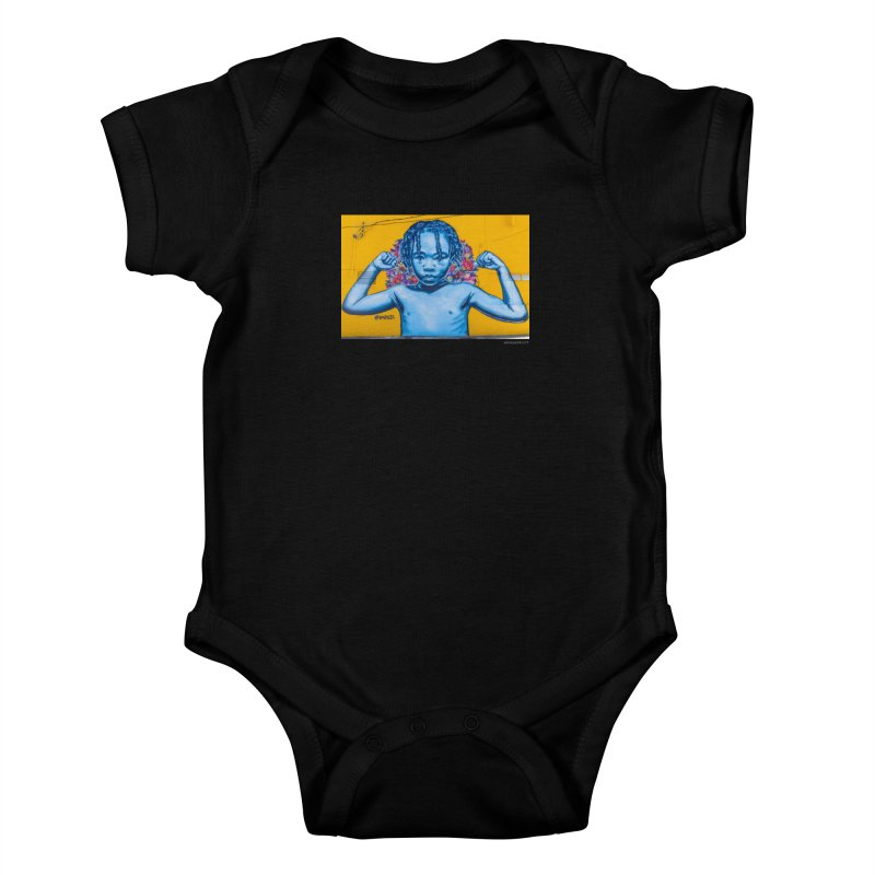 "Brandan ""Bmike"" Odums ""Survival Against All Odds"" for WonderRoot's Off The Wall Kids Baby Bodysuit by WonderRoot's Artist Shop"