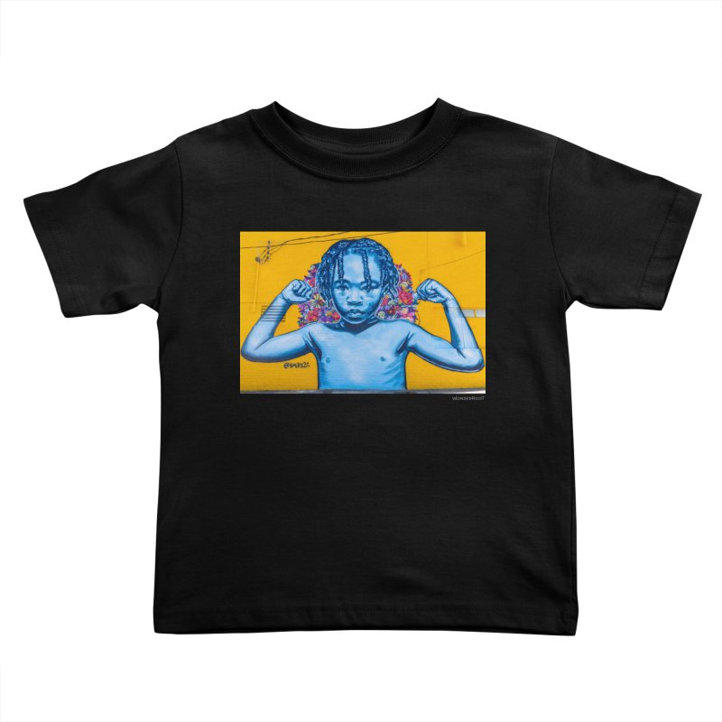 """Brandan """"Bmike"""" Odums """"Survival Against All Odds"""" for WonderRoot's Off The Wall Kids Toddler T-Shirt by WonderRoot's Artist Shop"""