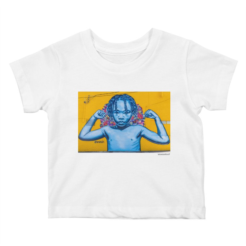"Brandan ""Bmike"" Odums ""Survival Against All Odds"" for WonderRoot's Off The Wall Kids Baby T-Shirt by WonderRoot's Artist Shop"